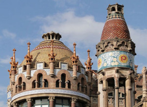 Ornamentation on the pavilions of the Hospital de Sant Pau