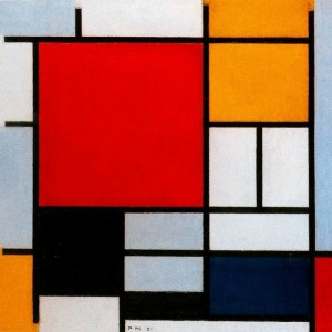 Composition with Gray, Red, Yellow, and Black (c. 1920–26)