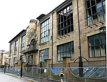 Glasgow School of Art, designed by Charles Rennie Mackintosh