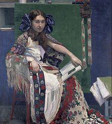 Bunte Bände (Portrait of Maria),1912.