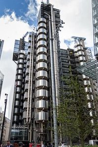 The Lloyd's building in London, by Richard Rogers.