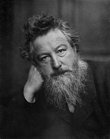 William Morris, portrait.