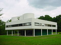 Villa Savoye in Poissy,Paris, France.