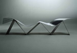 Bench design by Frank Gehry (2009).