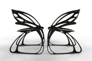 Butterfly chairs.