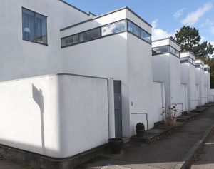 Gallery house at Weissenhof Estate designed by J. Oud.