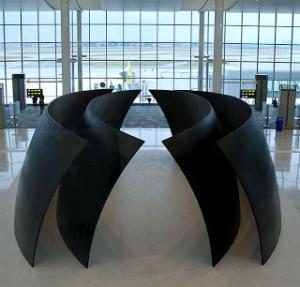 Richard Serra's Tilted Spheres in Terminal 1 Pier F at Toronto's YYZ airport