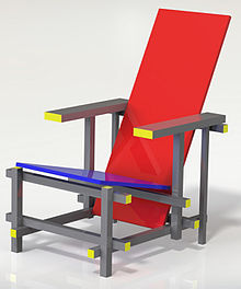 'Red Blue' chair (1917-1918).