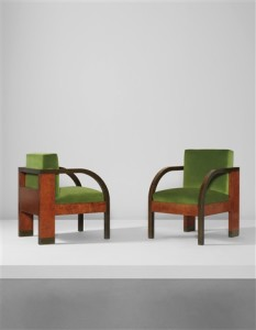 Pair of armchairs, from the Palazzo Gualino, Turin, 1928