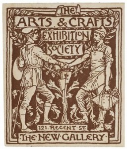 Detail from a season ticket for The Arts & Crafts Exhibition Society, by Walter Crane, England, UK, 1890.