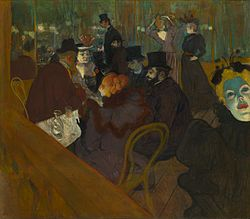 At The Moulin Rouge, Toulouse Lautrec.