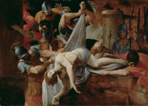 St. Sebastian Thrown into the Cloaca Maxima, Lodovico Carracci.