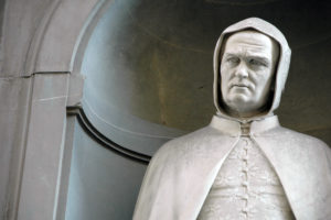 Giovanni Dupré , Giotto (detail), 1845, Statue in Uffizi Gallery, Florence, Italy.