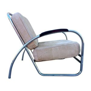 Chrome Lounge Chair, 1938, Kem Weber.