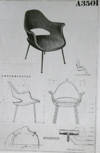 Womb Chair. sketch, 1947