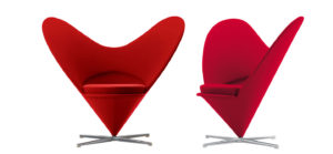 Heart Cone Chair, Verner Panton, 1958 , Vitra.