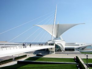 The Quadracci Pavilion at Milwaukee Art Museum.