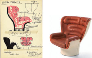 The Elda Chair for Longhi, 1963