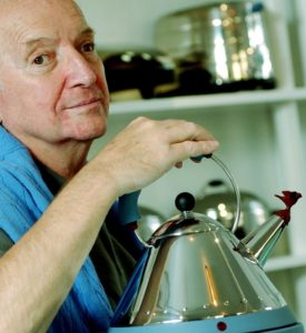 Graves with his iconic kettle for Alessi