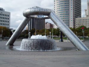 fountain for the Philip A. Hart Civic Center Plaza in Detroit