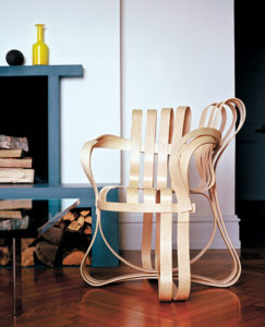 Cross Check Chair by Frank Gehry for Knoll, 1992.
