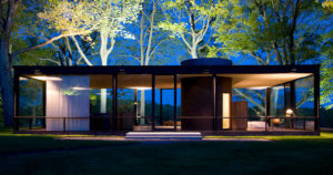 Glass House, at New Canaan, Connecticut (1949).