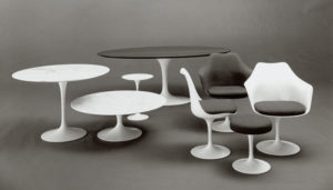 Saarinen's revolutionary Pedestal Collection debuted in 1958