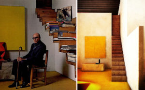 Luis Barragán in his house and studio