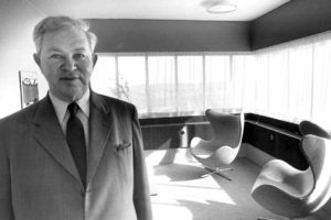 Arne Jacobsen with Egg Chair