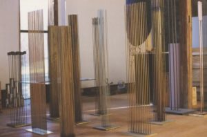 Some of the sound sculptures presented in the barn