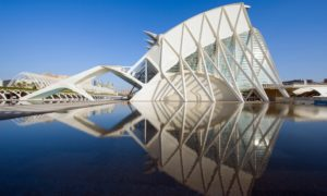 The Science Museum in the City of Arts and Sciences, Valencia, Spain.