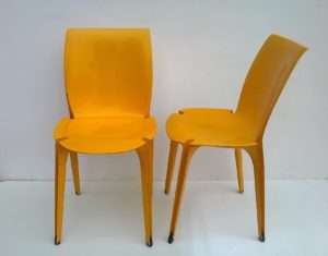 Lambda chairs, Marco Zanuso and Richard Sapper, 1960, Gavina.