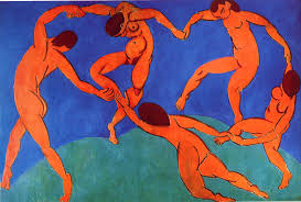 The dance by Matisse (1910), Hermitage Museum, Saint Petersburg, Russia.