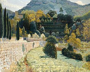 Terraced Garden in Mallorca,1904, Santiago Rusinol.