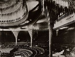 Inside of the Great Theatre, Berlin (1922) by Poelzing.