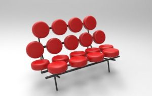 Marshmallow Sofa by George Nelson (1956)