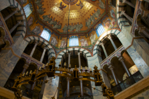 The Palatine Chapel in Aachen (Germany)