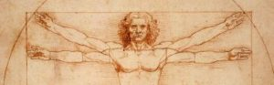Vitruvian Man by Leonardo da Vinci, circa 1487; one of the inspirations for the Modulor.