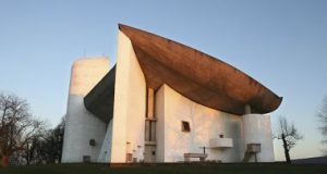 Notre-Dame du Haut, a church built by Le Corbusier using the scale of the Modulor.