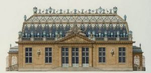 Thierry Bosquet's reconstruction of the Trianon de porcelaine, a small property in the village of Trianon built in 1670 by the architect Louis Le Vau on orders from Louis XIV.