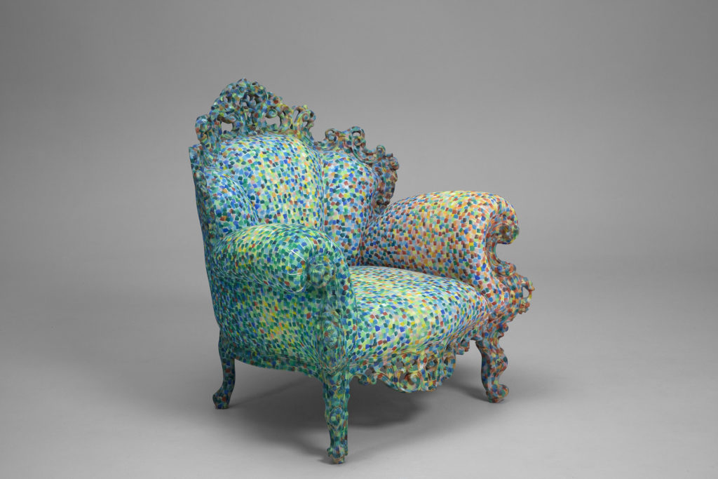 The first version of the Proust Armchair inspired by art and literature of the late 19th century.