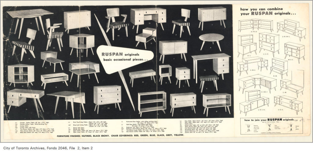 Several designs from the Ruspan originals line, including the Lounge Chair with Arms.