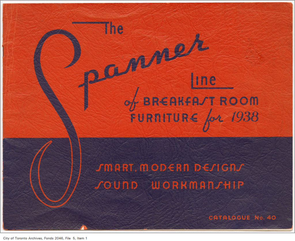 "A catalogue showing Spanner Products ""breakfast room furniture""."