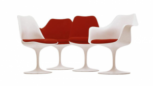 The four versions of the Tulip Chair.