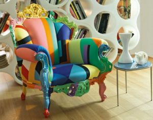 Cappellini's Proust Geometrica, a further evolution of the icon created by Alessandro Mendini.
