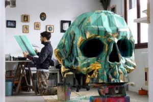The Harow Studio in Paris, during the realization of the Skull Armchair.