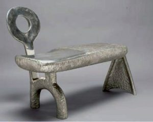 """Visitor 34 x 42 x 20"""" cast white bronze, 2008. Private collection: West Palm Beach, Florida."""