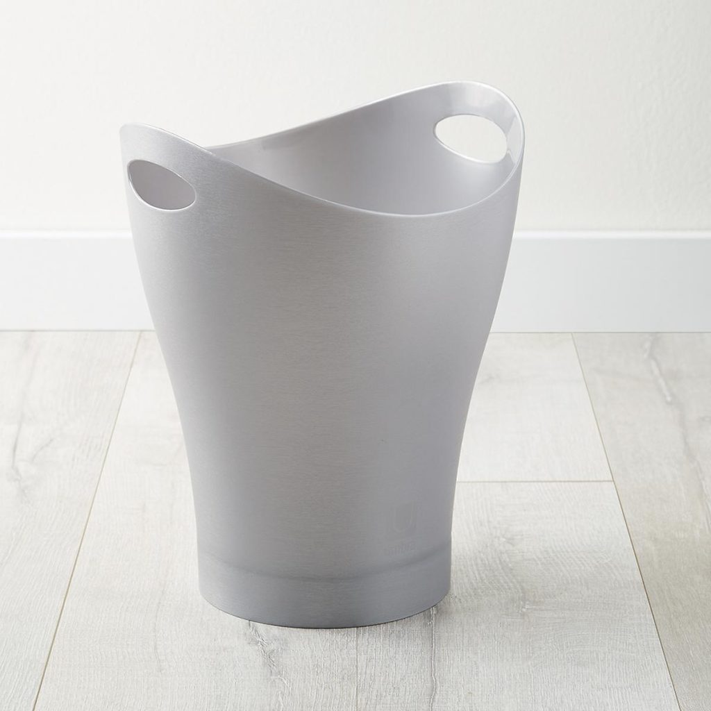 Umbra Garbo waste can, designed by Karim Rashid in 1996.