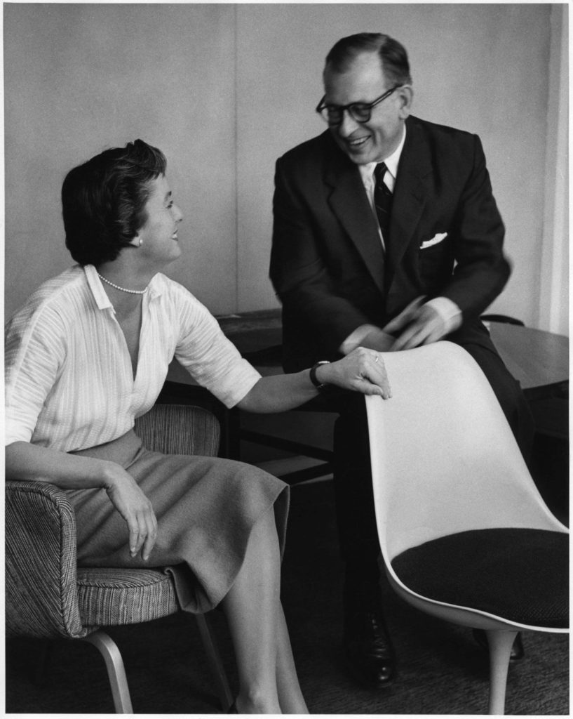 Florence Knoll and Eero Saarinen.