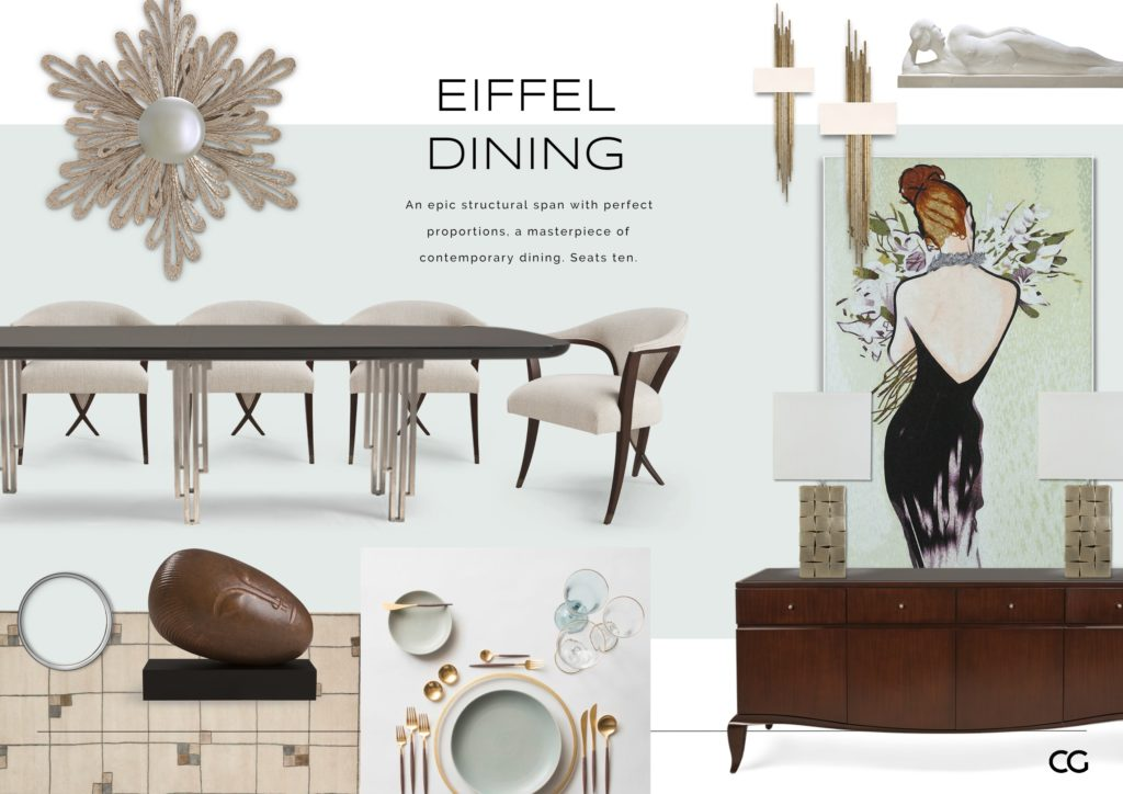 Eiffel Dining series by Christopher Guy Harrison.